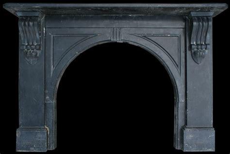 Black Fireplace Surround by Antique Black Marble Surround