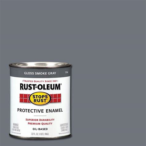 rust oleum stops rust 1 qt flat black protective enamel paint 7776502 the home depot