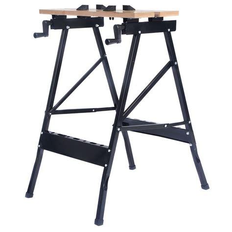 folding tool bench portable folding work bench tool table garage repair