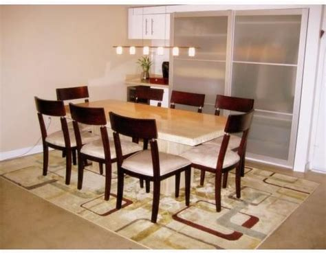 dining table travertine dining table and chairs