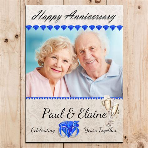 Wedding Banner Messages by Personalised Sapphire 65th Wedding Anniversary Photo