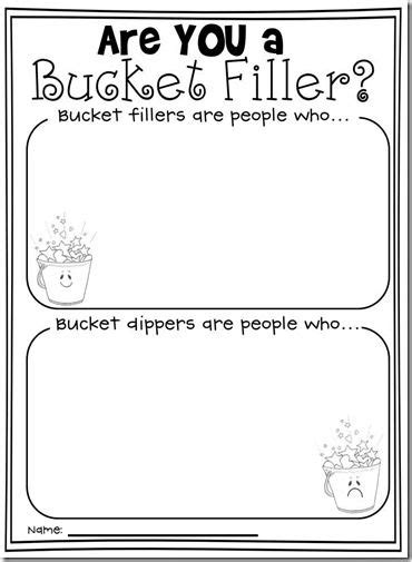 have you filled a bucket today free activity there is a