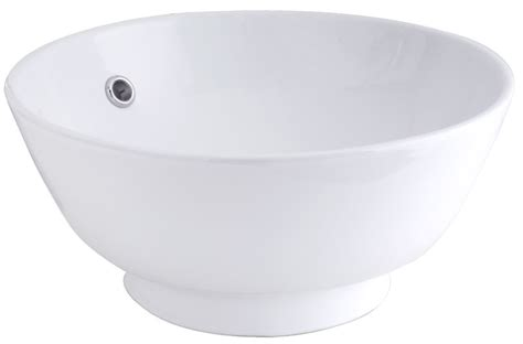 Glacier Bay Vessel Faucet by Glacier Bay Vessel Sink In White The Home Depot Canada