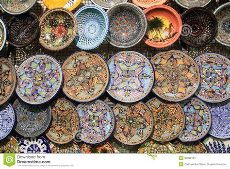 Handcrafted Pictures - tunisia handcrafted traditional plates and pottery
