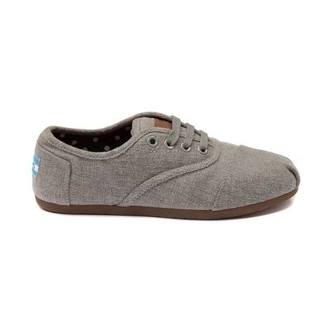 womens toms cordones casual shoe gray