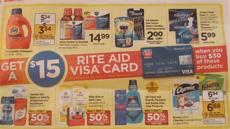 Rite Aid Visa Gift Card - tide detergent crest mouthwash venus razors as low as 0 80 more deals at rite aid