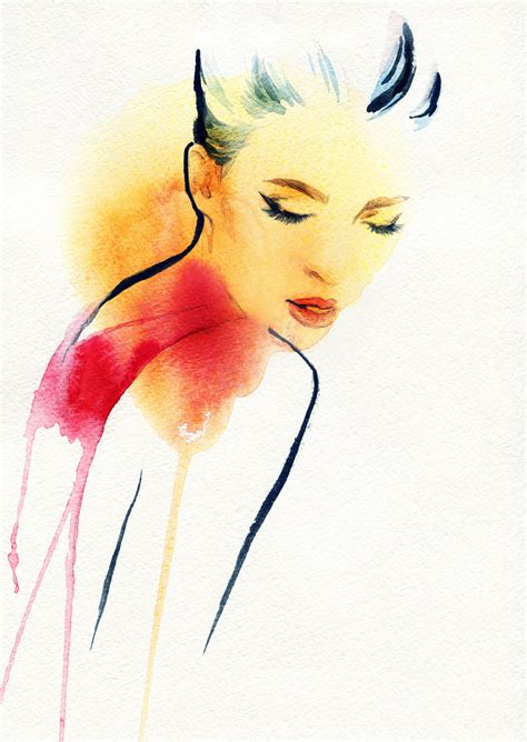 watercolor woman tutorial love your guts a guide to good gut health checks and spots