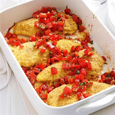 bruschetta chicken recipe taste of home