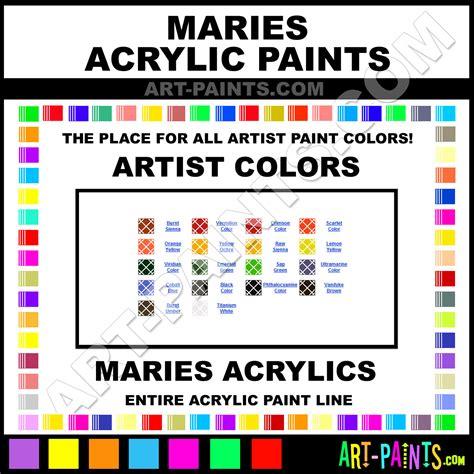 Acrylic Maries orange yellow artist acrylic paints 301 orange yellow