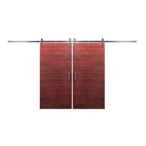 Rustica Hardware Bi Parting 36 In X 84 In Rustica Reclaimed Barn Door Hardware