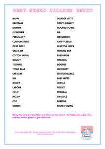 9 best images of baby bingo word list printable