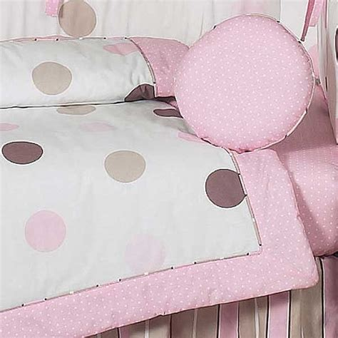 pink and brown polka dot crib bedding pink and brown mod dots crib bedding set by sweet jojo