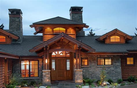 home entry mountain architects hendricks architecture idaho
