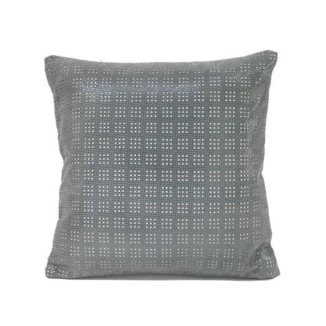 Leather Pillows For Sale by Small Steel Blue Perforated Leather Pillow For Sale At 1stdibs