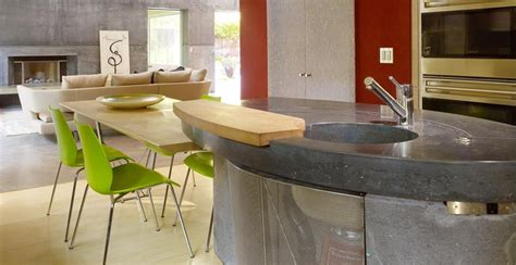 Cheng Countertops by House 6 Concrete Kitchen Countertops By Fu Tung Cheng Cheng Concrete Exchange