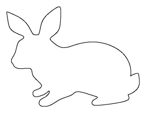 rabbit template rabbit pattern use the printable outline for crafts
