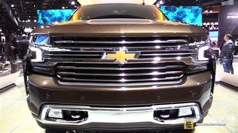 detroit boat show 2019 2019 chevrolet silverado high country exterior and