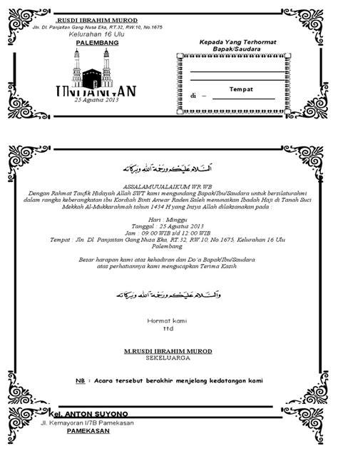 membuat undangan walimatul ursy contoh undangan syukuran keberangkatan haji
