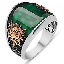 mens emerald ring ebay