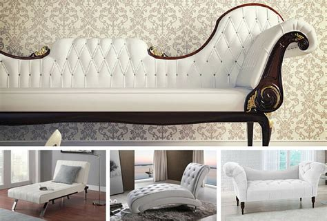 top  types  white chaise lounges