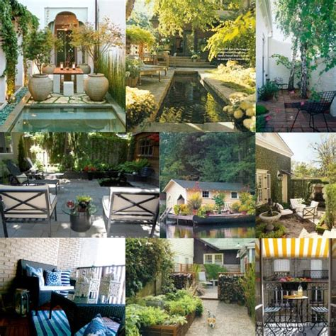 Small Outdoor Spaces | inspiration board small outdoor spaces home