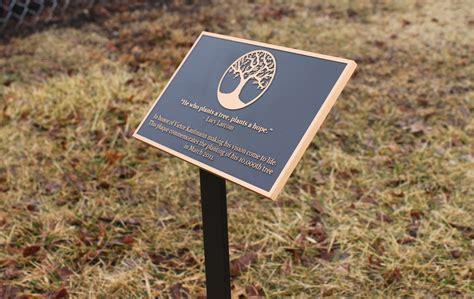 memory plaques  garden fasci garden