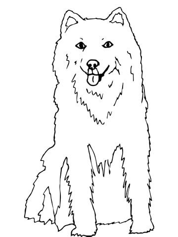 Alaskan Husky Coloring Page Supercoloring Com Siberian Husky Coloring Pages