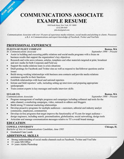10 Resume Skills To State In Your Applications Communication Skills Resume Exle 71 Images Communication Resume Sle