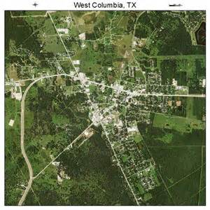 aerial photography map of west columbia tx