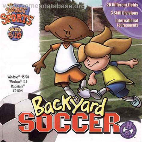 humongous entertainment backyard baseball backyard soccer scummvm games database