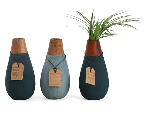 Recycled Paper Vase by Drop Shaped Vase Made From Recycled Paper And Offcut Wood