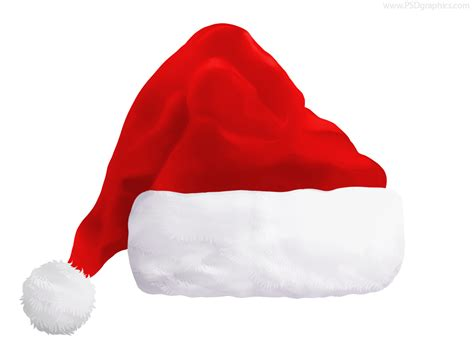 red santa hat psd psdgraphics