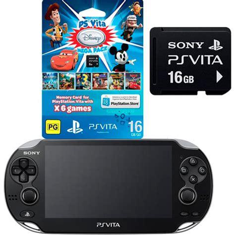 Ps Vita Wifi 16gb ps vita slim wi fi disney mega pack memory card 16gb