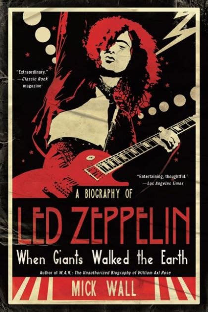 libro when giants walked the when giants walked the earth a biography of led zeppelin by mick wall paperback barnes noble 174