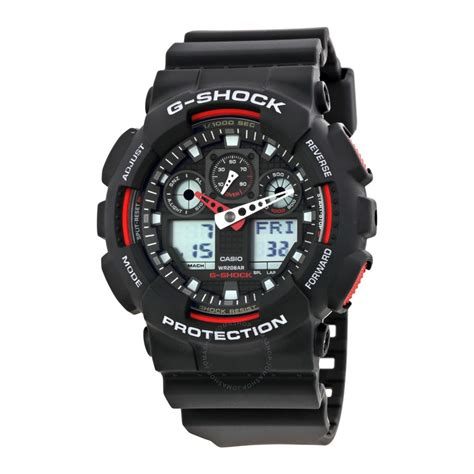 Casio G Shock Ga 100 Black casio g shock black resin s ga100 1a4 g