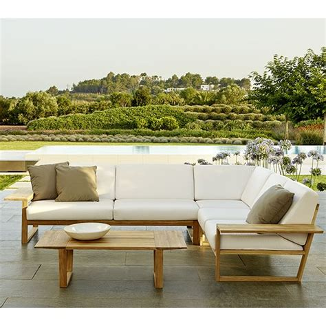 Teak Sectional Outdoor Furniture by Point Lineal Sectional Sofa Outdoor Teak Lounge