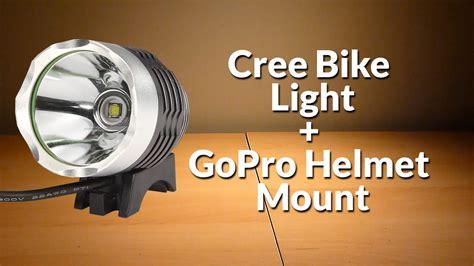 head mounted led light diy cree bike light gopro helmet light mount youtube