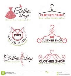 clothes shop fashion logo vector set design stock vector