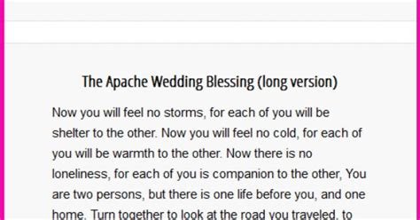 Apache Wedding Blessing Version by The Apache Wedding Blessing And Versions