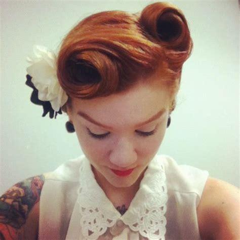 Vintage Updo Hairstyles Pinterest Best 25 Vintage Hair Ideas On Hair Styles