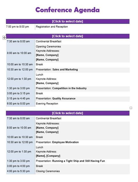 conference agenda template 11 best agenda templates images on resume