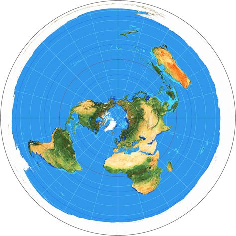 flat earth equidistant map projection azimuthal equidistant projection flat earth map zetetic