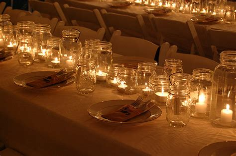 wedding centerpieces with jars and candles jar candle wedding centerpieces to inspire you