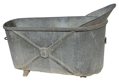 Tin Bathtub by 19th C Tin Bathtub Le Bain