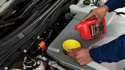where do you put the st how to add motor oil vehicle features official ford