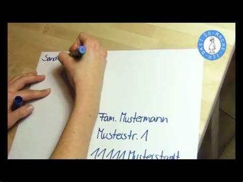 Bewerbung Couvert Anschreiben A4 Briefumschlag Beschriften Brief Beschriften