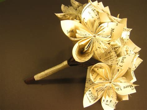 Origami Bouquet For Sale - origami hymnal bouquet 40 00 via etsy repurposed