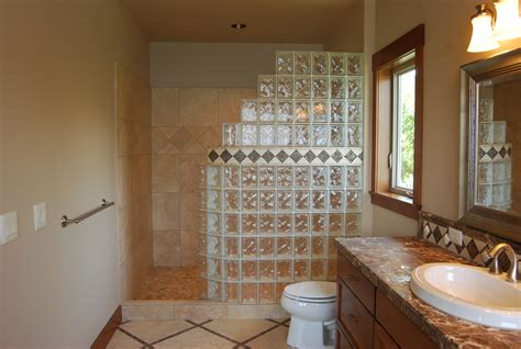 Glass Block Designs For Bathrooms | seattle glass block glass block shower kits install in 4