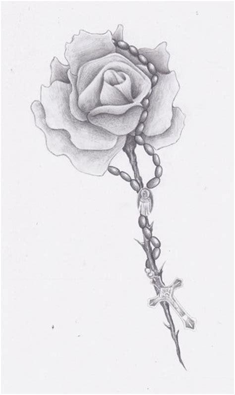 rose beads tattoo designs rosary bead drawing rosary tattoos pinte