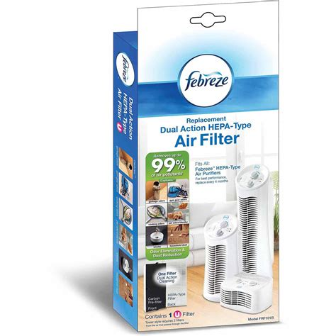 febreze mini tower air purifier with scent cartridge and replacement filter value bundle